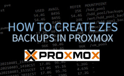 How To Create ZFS Backups in Proxmox