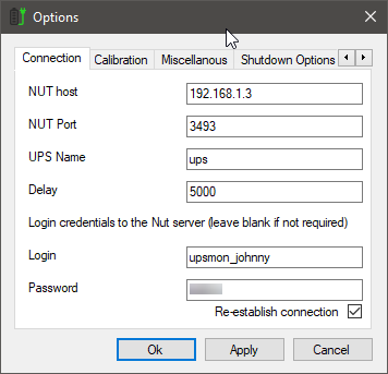 WinNUT Client Options
